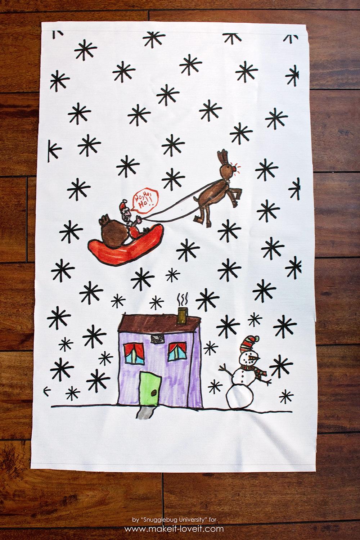 Diy dishtowels…from your children's artwork!