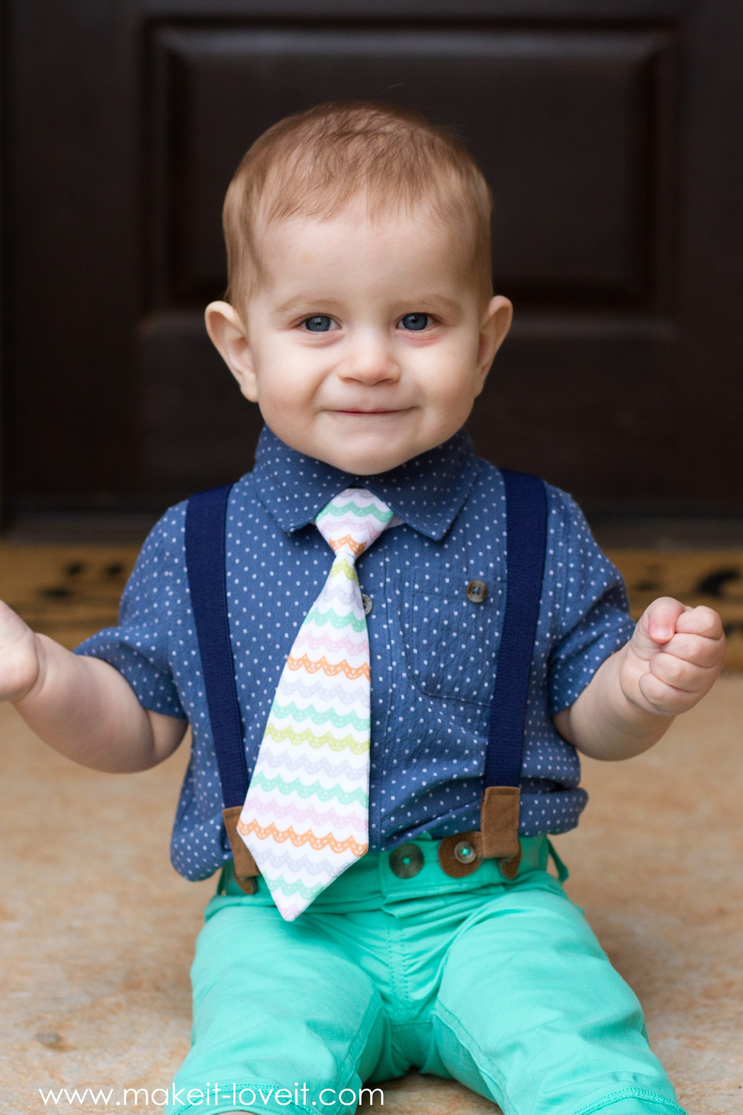 "Making the ""little guy tie"" (baby and toddler tie pattern)…..for max!!!"