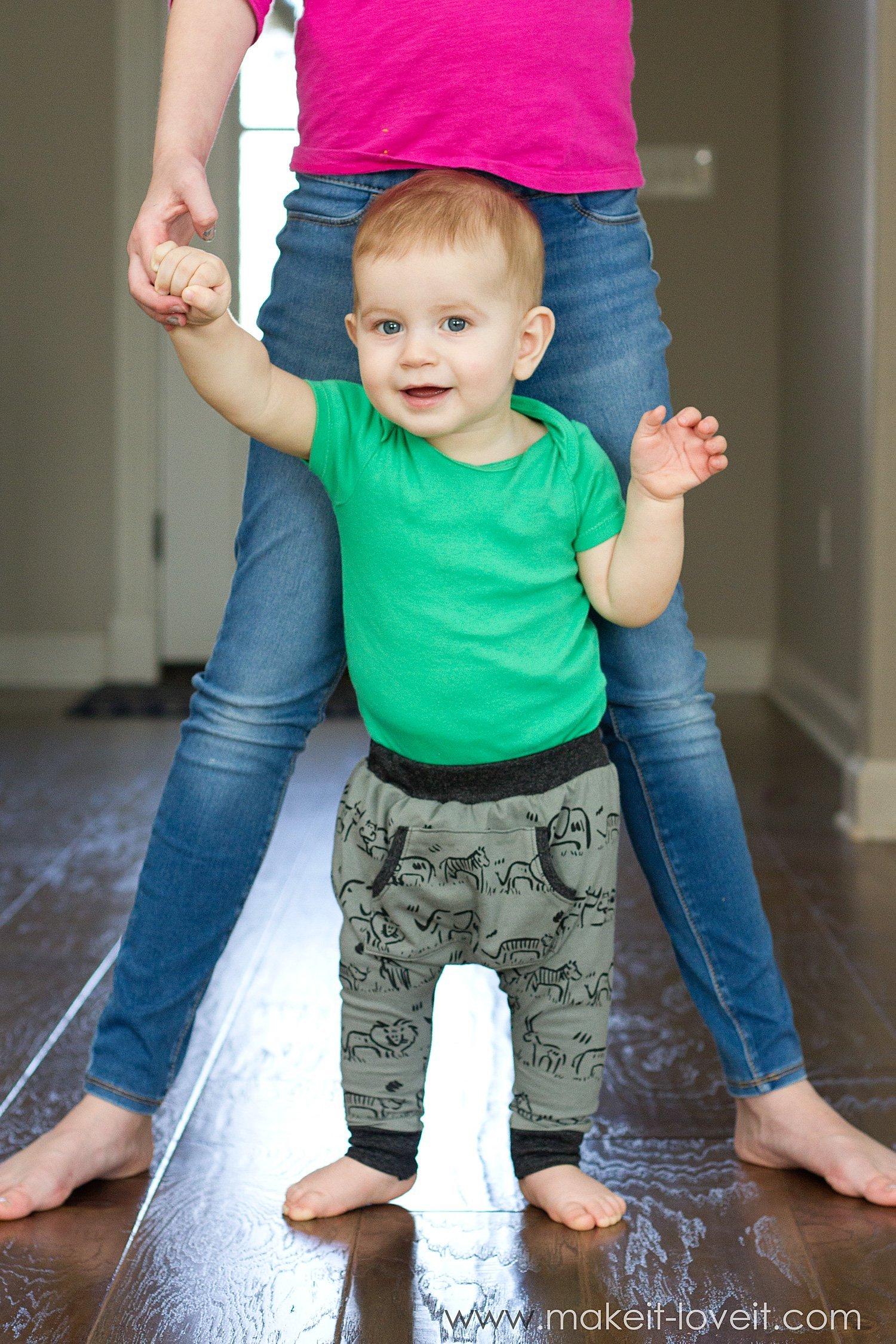 Harem style baby leggings 6