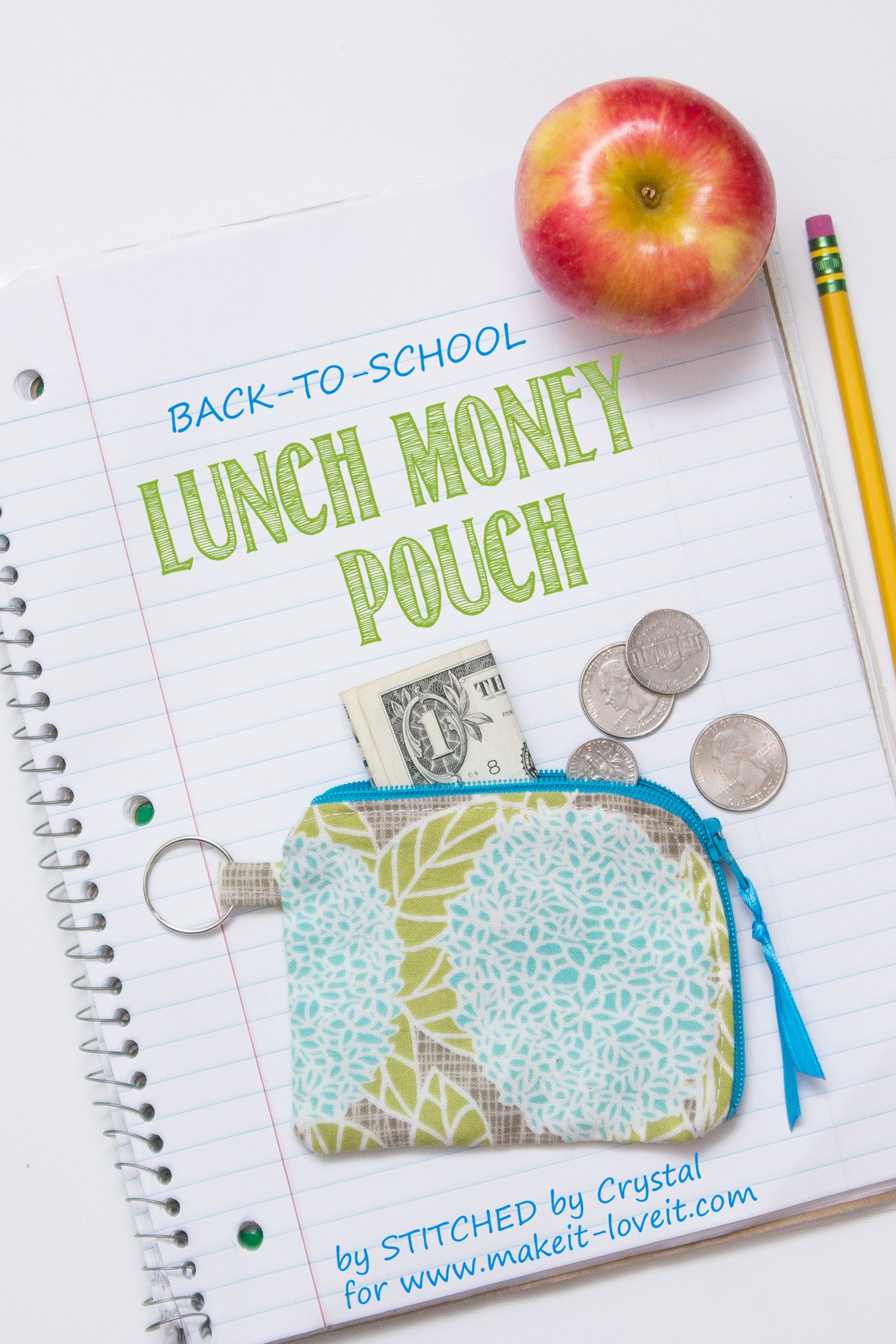Sew a lunch money pouch…for back to school!