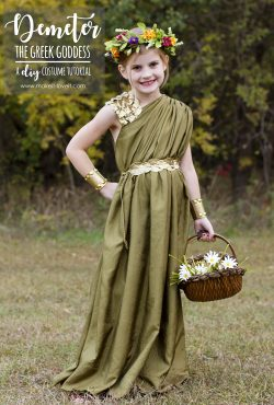 DIY Greek Goddess Costume: DEMETER