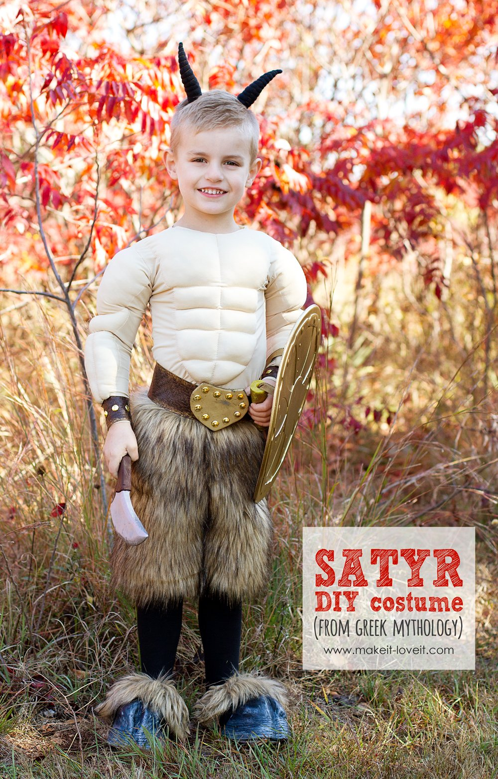 Diy greek mythology costume: satyr
