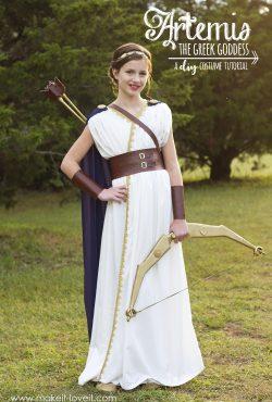 DIY Greek Goddess Costume: ARTEMIS