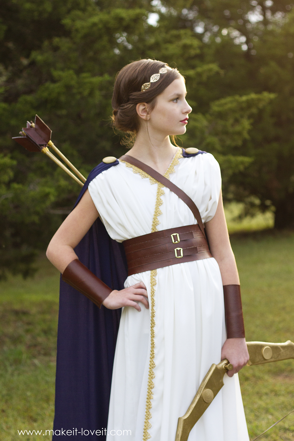 Diy greek goddess costume: artemis