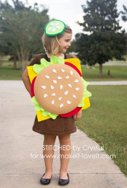 Make a Quick and Easy, NO SEW, Cheeseburger Costume!