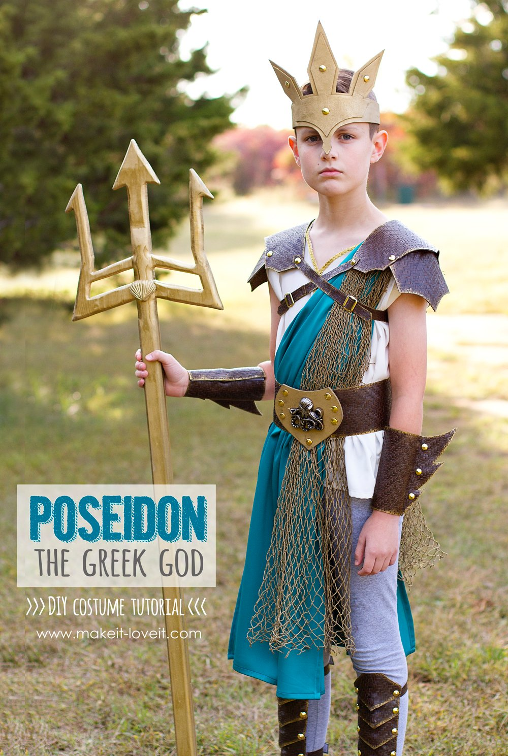 Diy greek god costume: poseidon