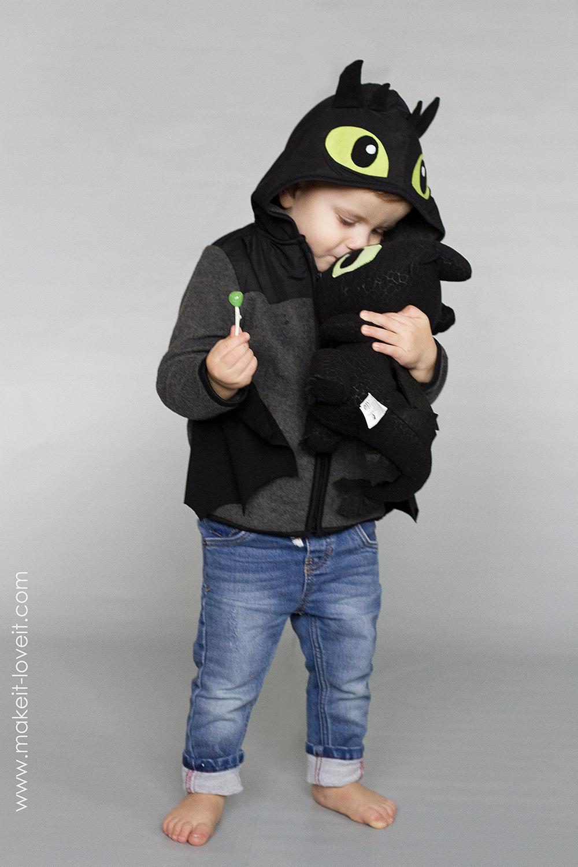 Diy toothless dragon hoodie 6