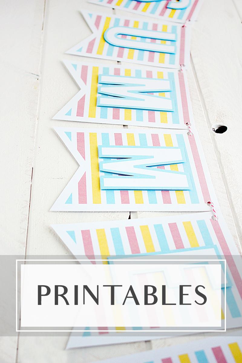 Diy crafting printables