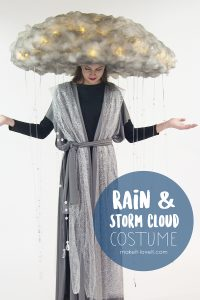 Rain & storm cloud costume (no-sew)