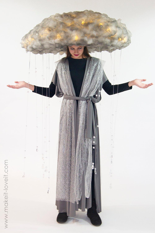 Diy rain storm cloud costume 10