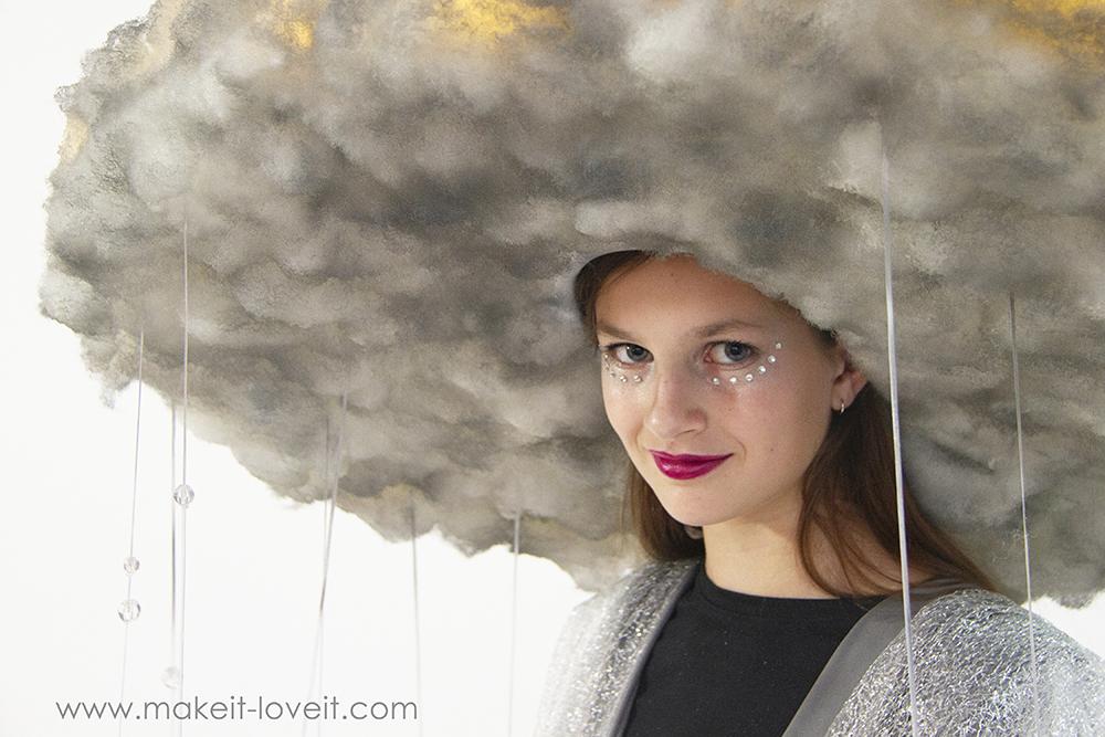 Diy rain storm cloud costume 11