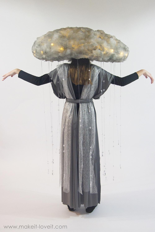 Diy rain storm cloud costume 2