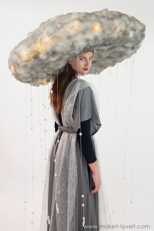Diy rain storm cloud costume 3