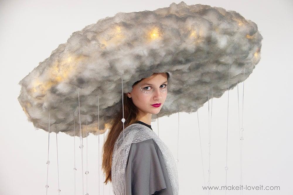 Diy rain storm cloud costume 4