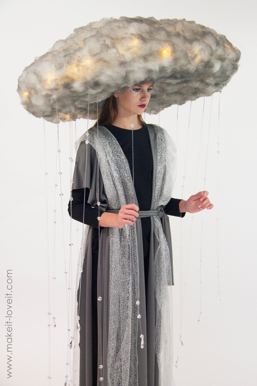 Diy rain storm cloud costume 5