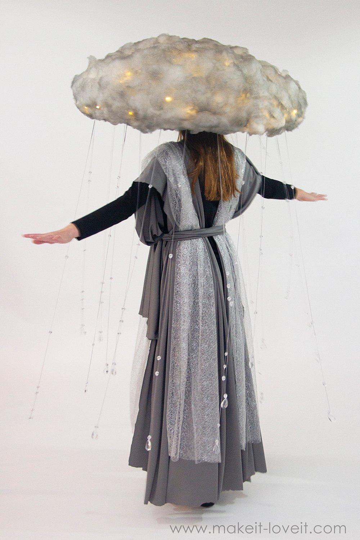 Diy rain storm cloud costume 6