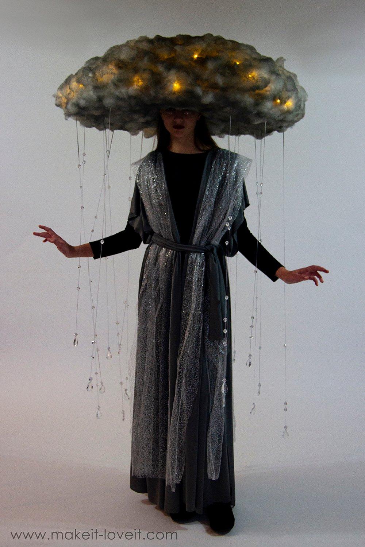 Diy rain storm cloud costume 7