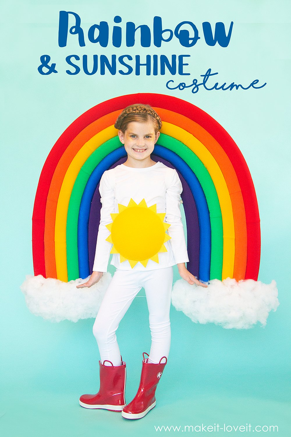 Make a rainbow & sunshine costume