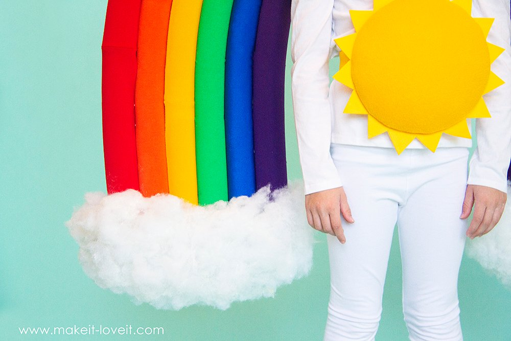 How to make a rainbow and sunshine costume 10 0