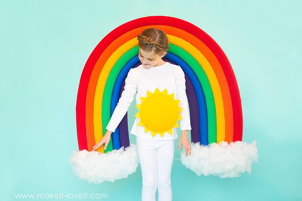 How to make a rainbow and sunshine costume 2 0