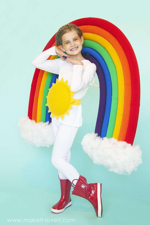 How to make a rainbow and sunshine costume 3 0