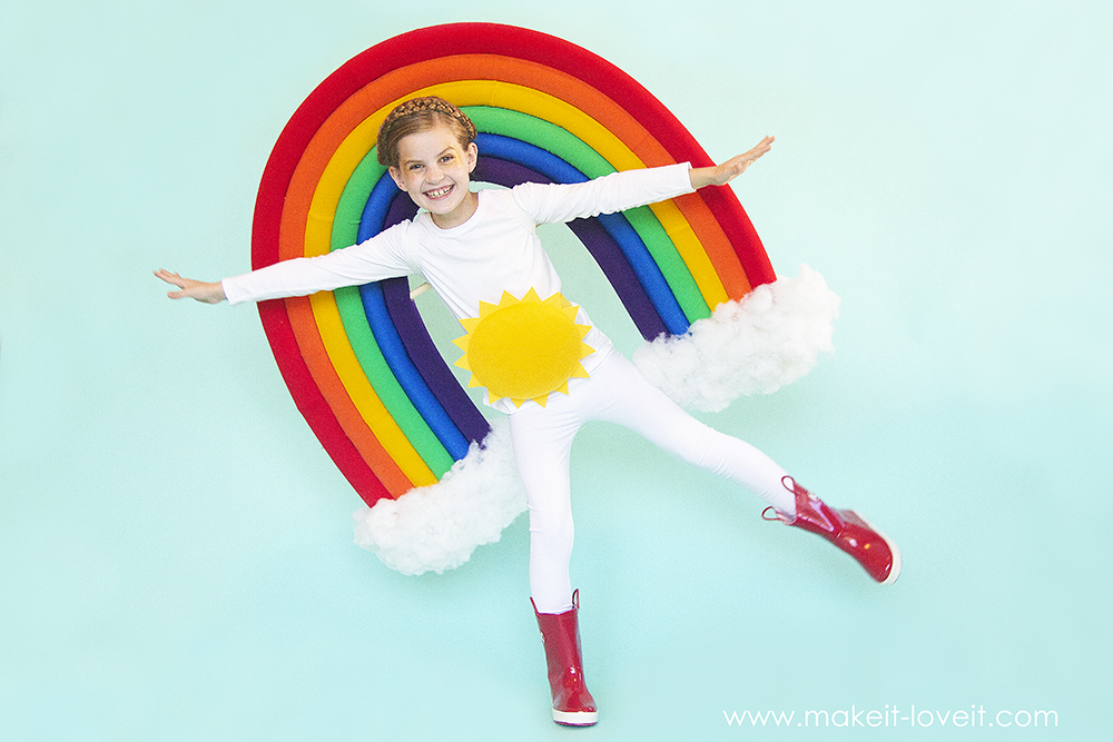 How to make a rainbow and sunshine costume 4 0