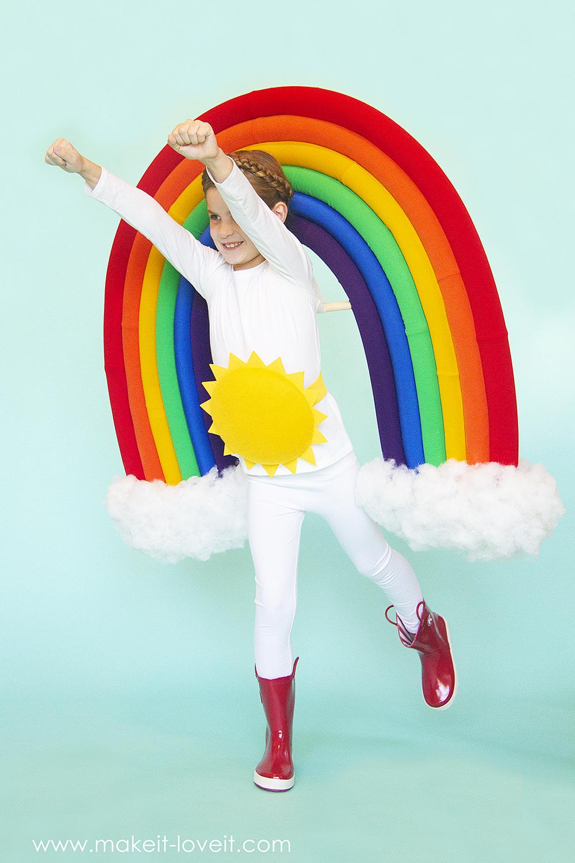 How to make a rainbow and sunshine costume 5 0
