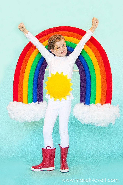 How to make a rainbow and sunshine costume 7 0