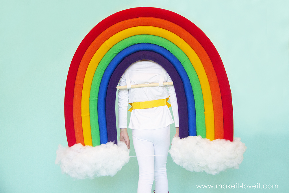 How to make a rainbow and sunshine costume 8 0
