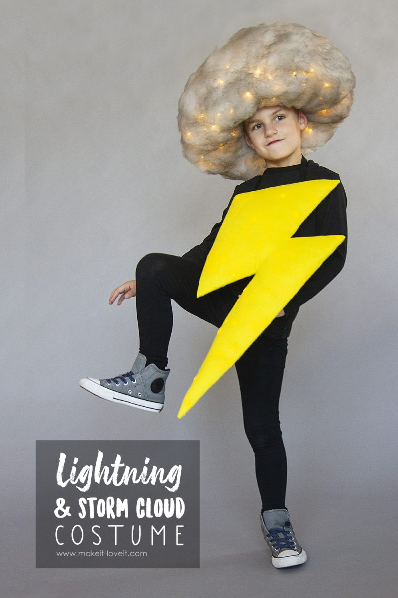 Lightning & storm cloud costume (no-sew)