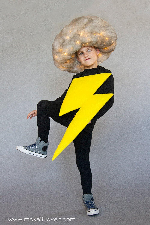 Lightening and storm cloud costume tutorial 10