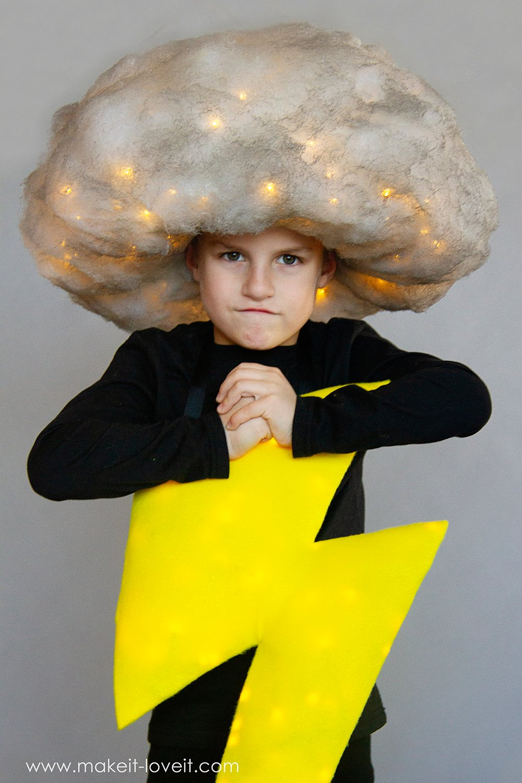 Lightening and storm cloud costume tutorial 2