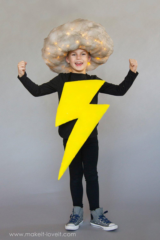 Lightening and storm cloud costume tutorial 7