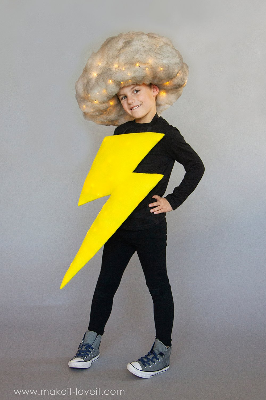Lightening and storm cloud costume tutorial 8