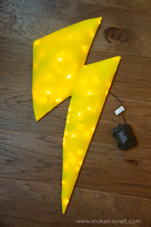 Lightning storm cloud costume tutorial instructions 6