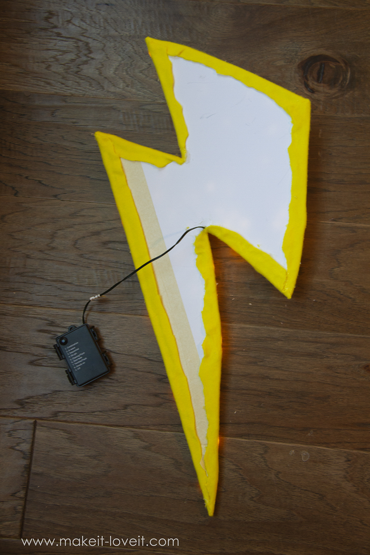 Lightning storm cloud costume tutorial instructions 7