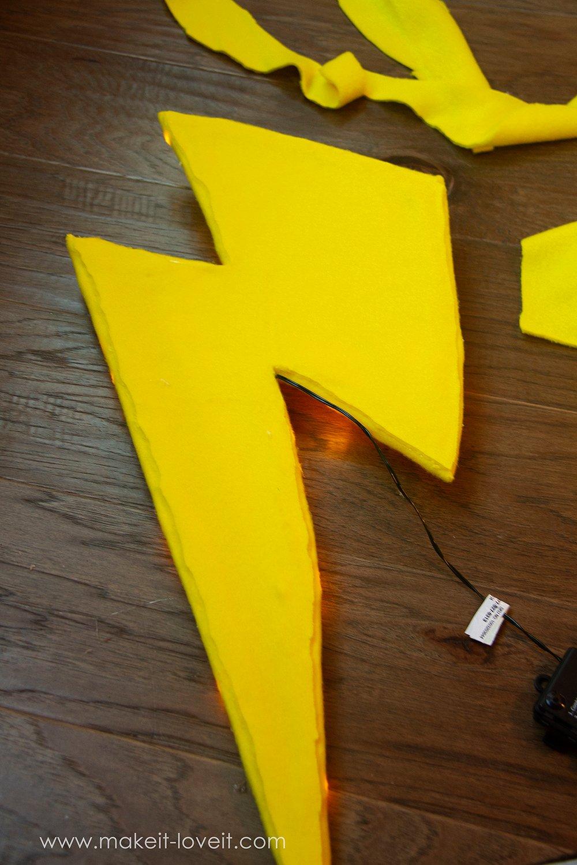 Lightning storm cloud costume tutorial instructions 8
