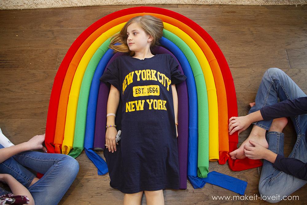 Rainbow and sunshine costume tutorial step by step 10