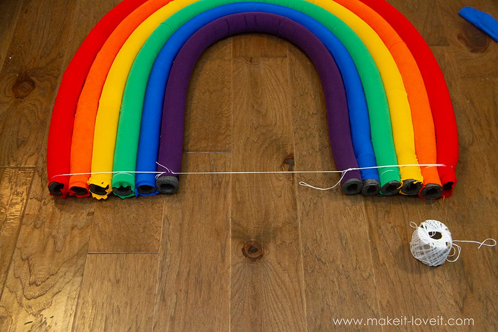 Rainbow and sunshine costume tutorial step by step 13