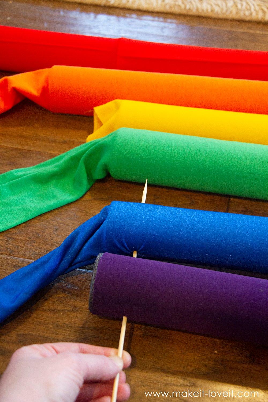 Rainbow and sunshine costume tutorial step by step 8