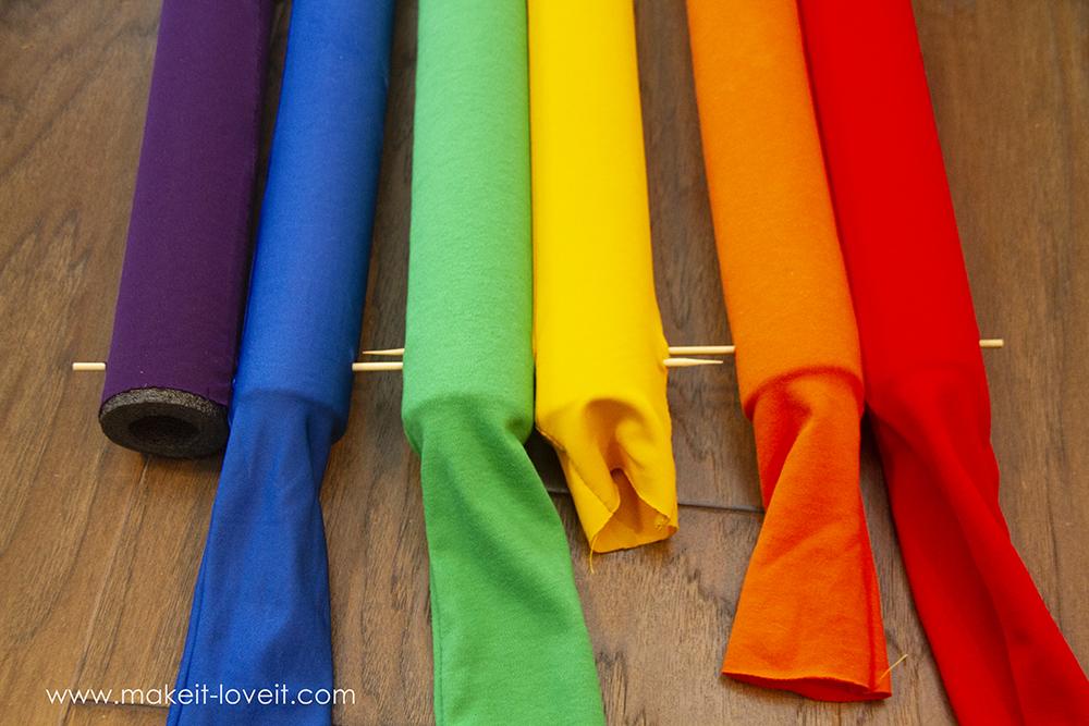 Rainbow and sunshine costume tutorial step by step 9