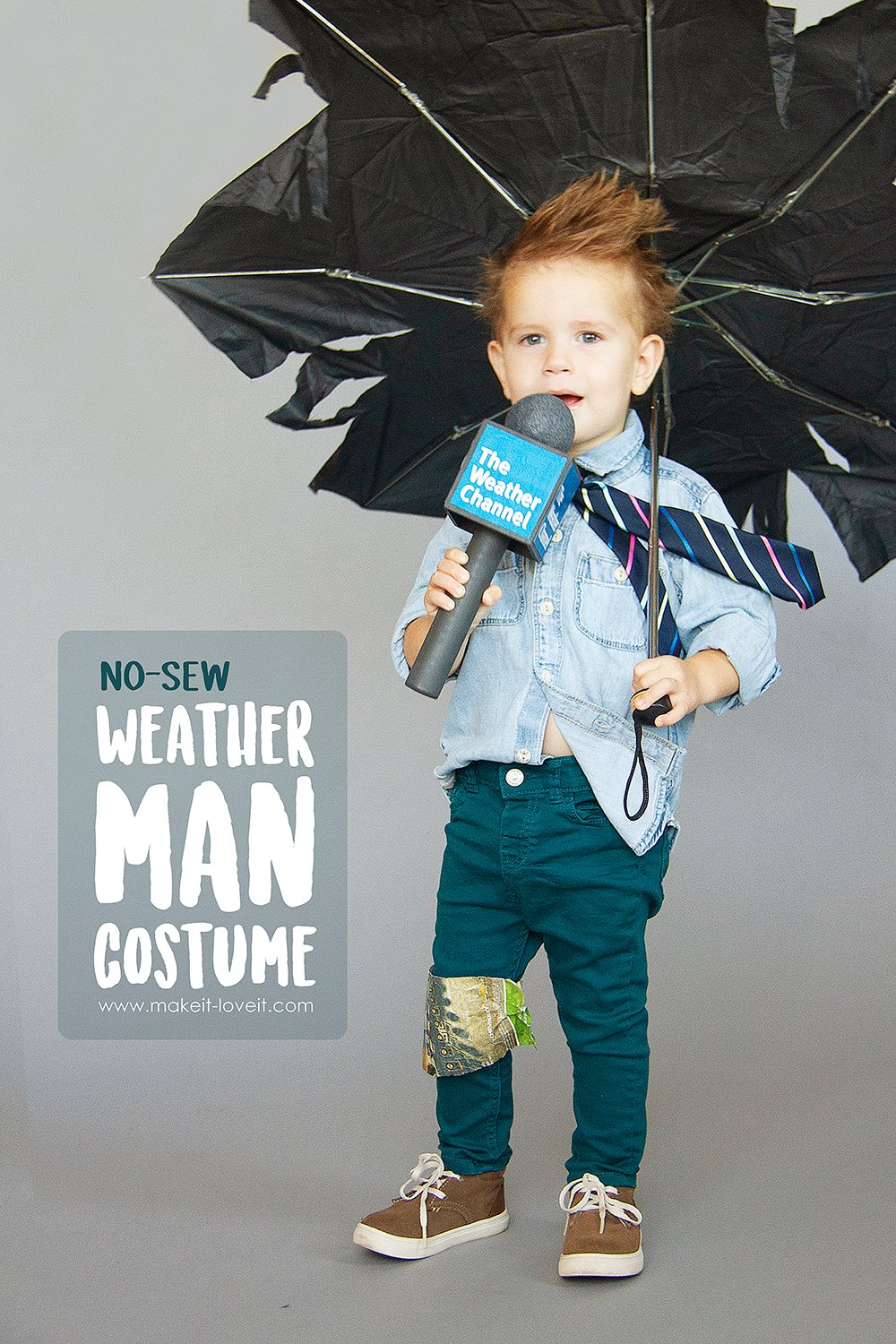 Make a no-sew weatherman costume