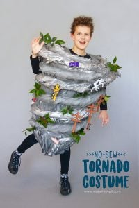 Make a no-sew tornado costume