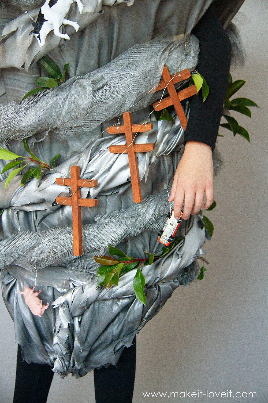 Make a no sew tornado costume 6