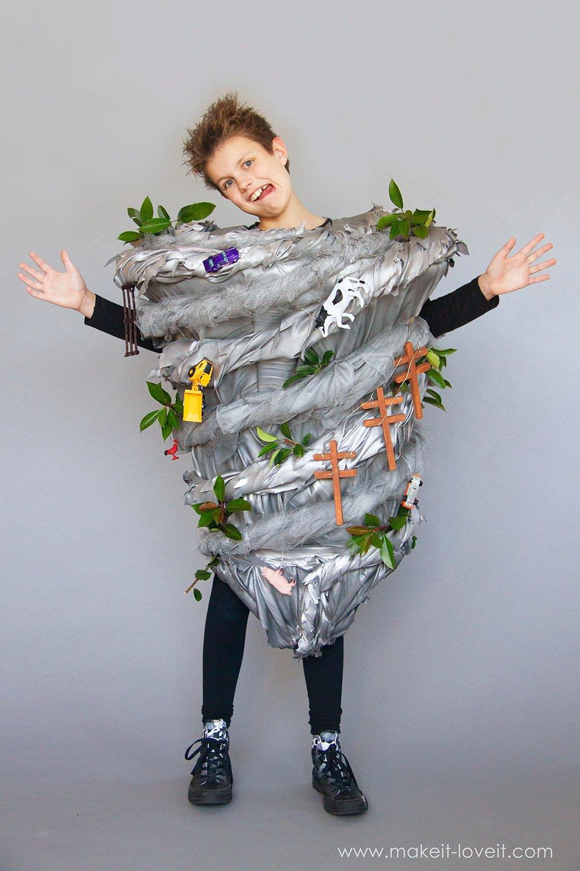 Make a no sew tornado costume 7