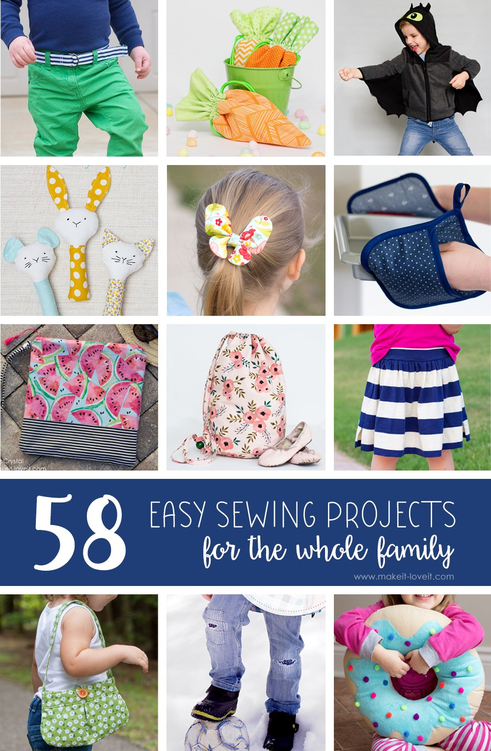 58 easy sewing projects