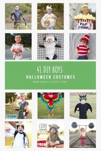 Collage photo of 41 diy boys halloween costumes 1