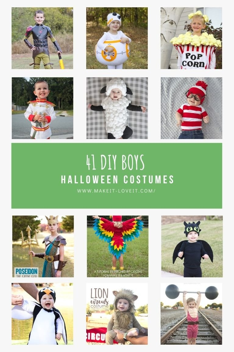 Collage photo of 41 diy boys halloween costumes 1