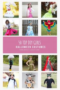 Collage photo of 50 top diy girls halloween costumes