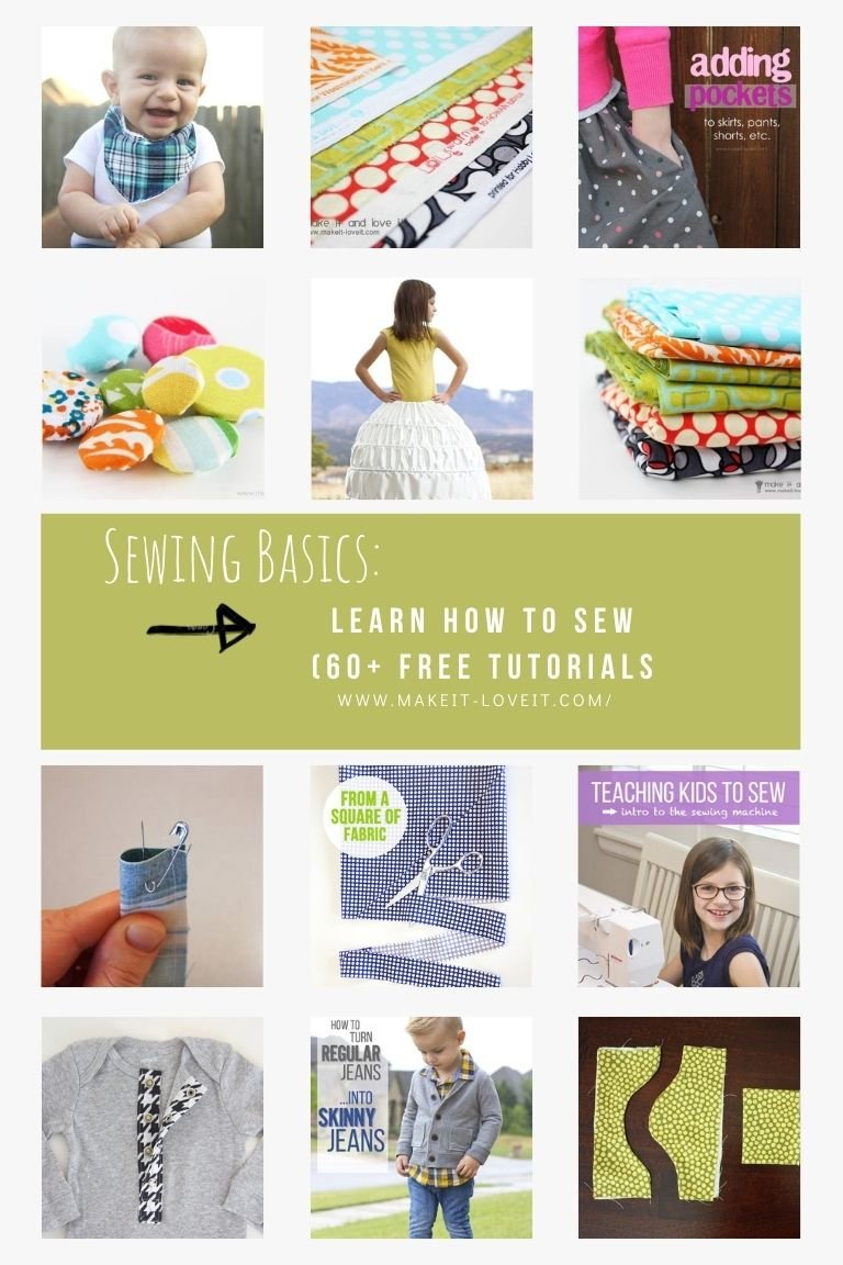 Collage photo of sewing basics learn how to sew online 60 free guides